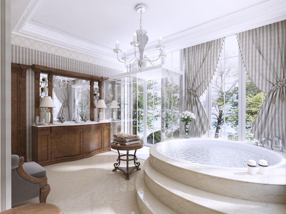 luksusowa łazienka z dżakuzi